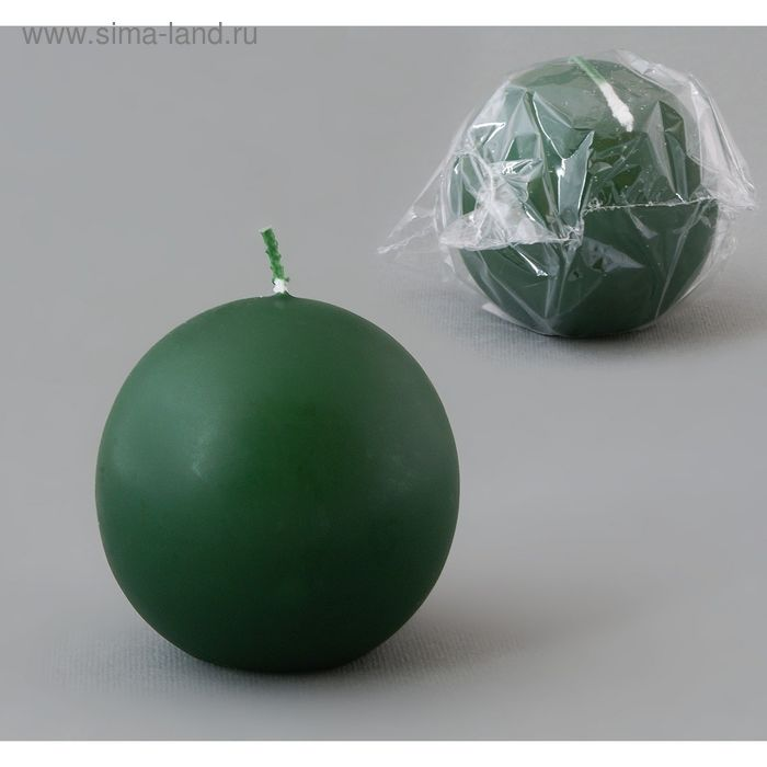 Свеча шар 55 темно-зеленый
