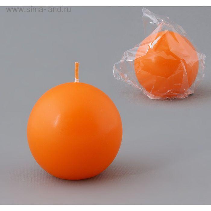 Свеча шар 55 оранжевый