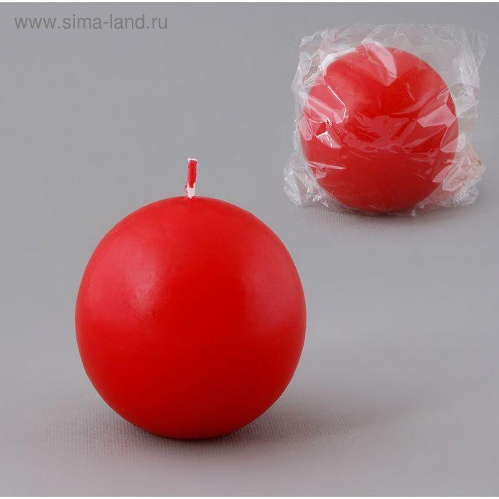Свеча шар 55 красный