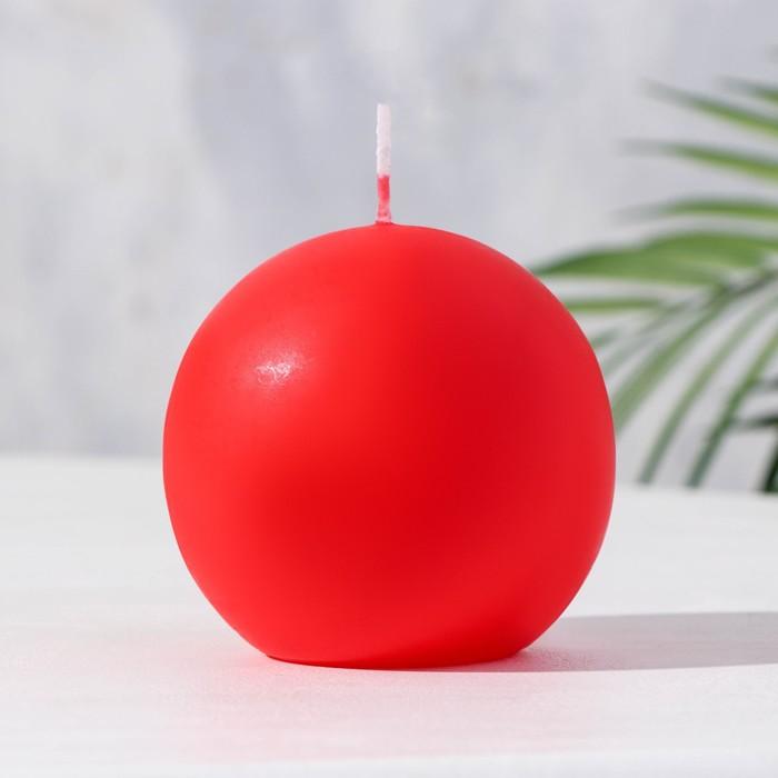 Свеча шар 80 красный