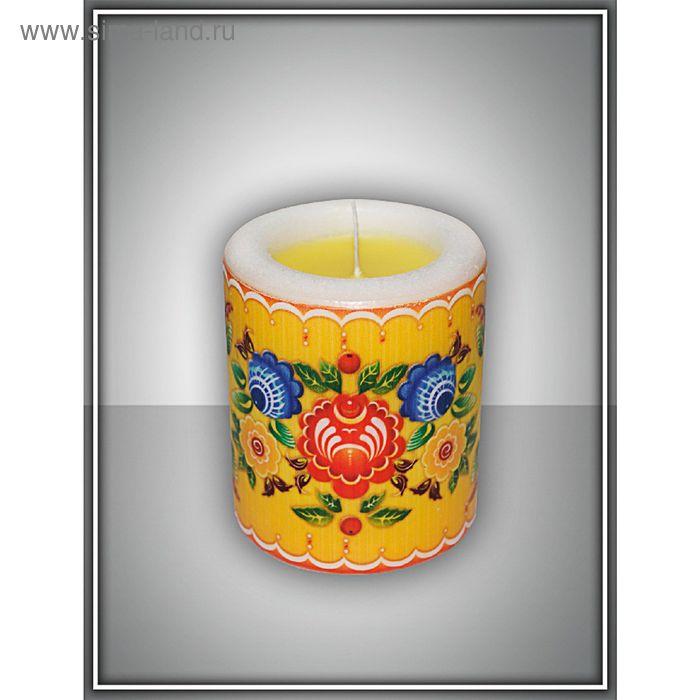 """Свеча интерьерная """"городец"""" арома медитация №5"""