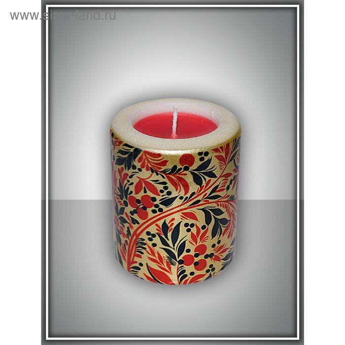 "Свеча интерьерная ""хохлома"" арома медитация №6"