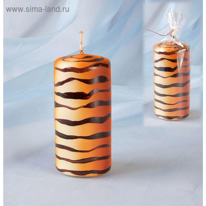 Свеча пенек 60х125 Тигровая