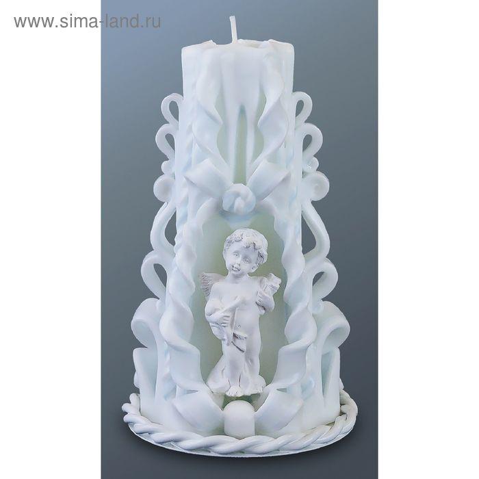 Свеча резная средняя с ангелочком