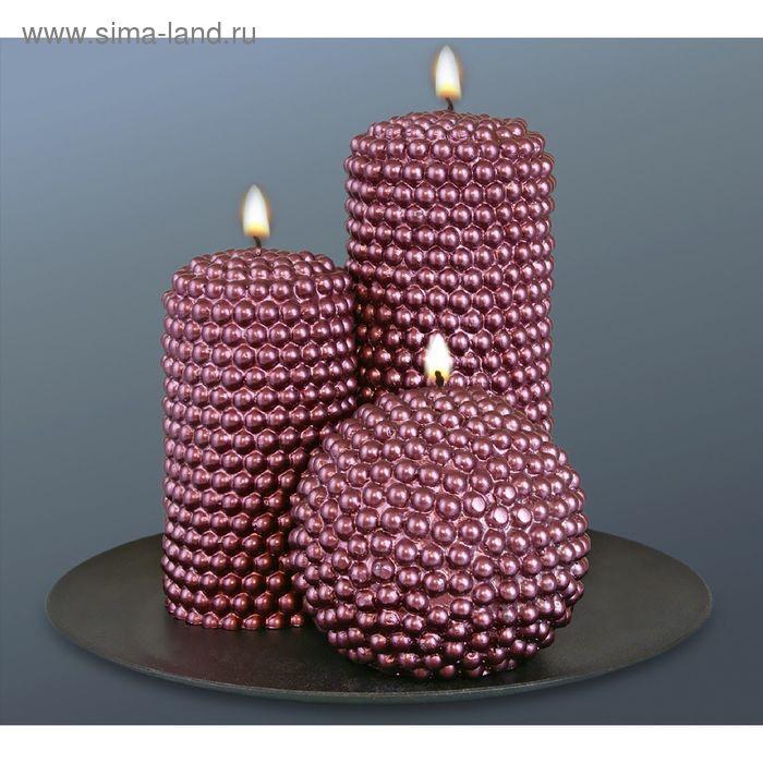 """Набор свечей """"жемчужный"""" шоколад"""