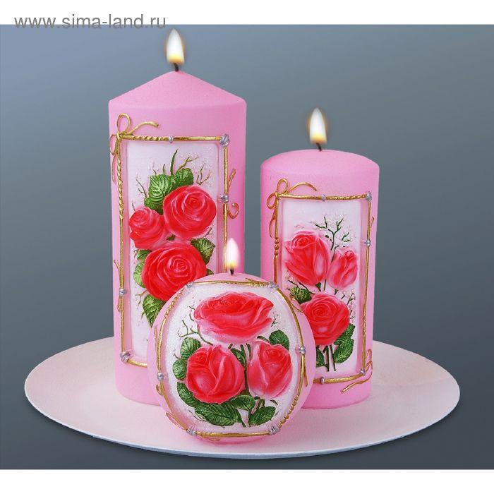 """Набор свечей """"букет роз"""""""