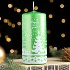 Свеча пеньковая новогодняя, зелёная