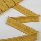 """Тесьма """"Бахрома"""", 4см, 12±1м, цвет золотой"""
