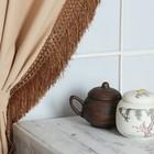 """Тесьма """"Бахрома"""", 12см, 12±1м, с двойной окантовкой, цвет коричневый"""