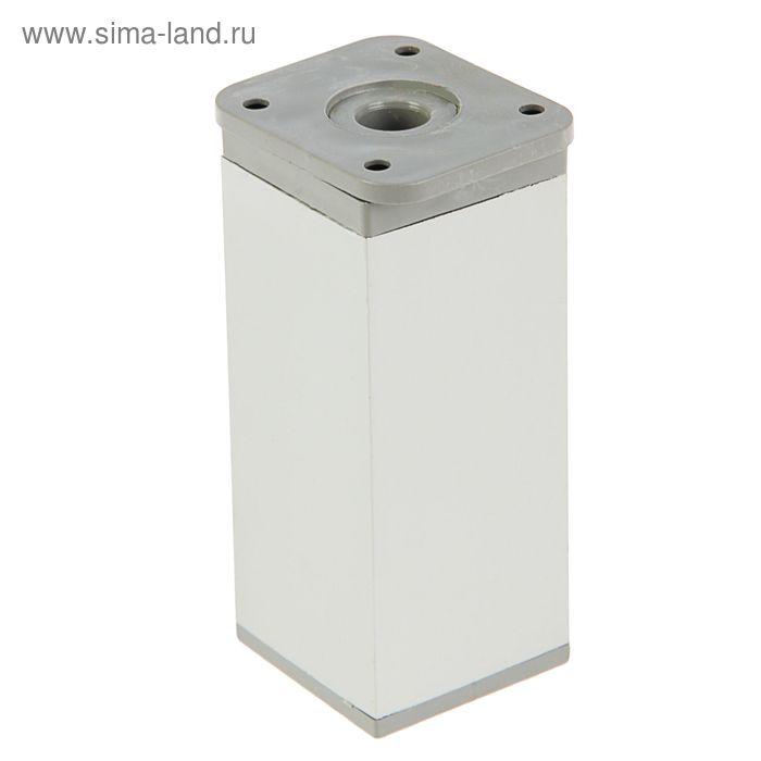 Опора мебельная М040, H=100 мм, цвет матовый хром