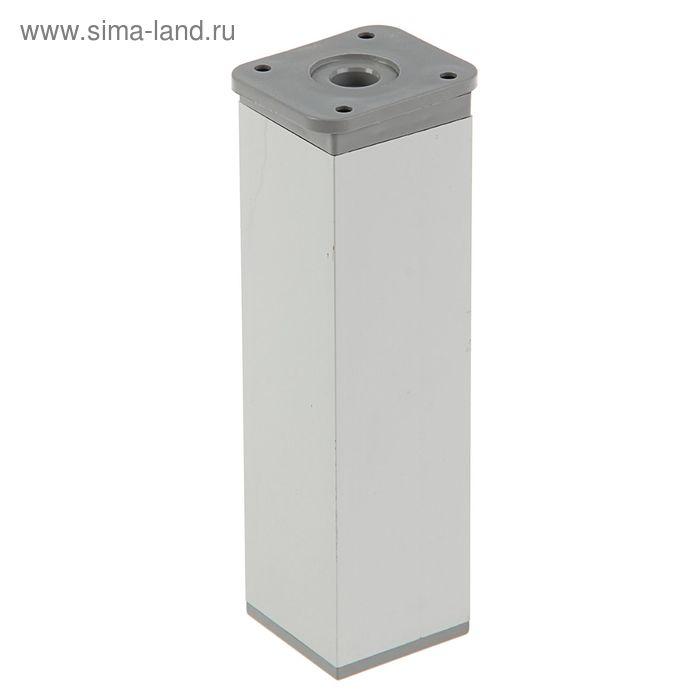 Опора мебельная М040, H=150 мм, цвет матовый хром
