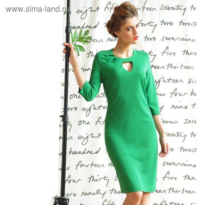 Платье 5101 С+, размер 50, рост 164 см, цвет зеленый