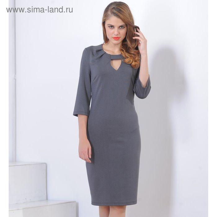 Платье 5101а, размер 48, рост 164 см, цвет черный/серый