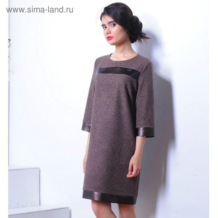 Платье 5116 С+, размер 50, рост 164 см, цвет коричневый