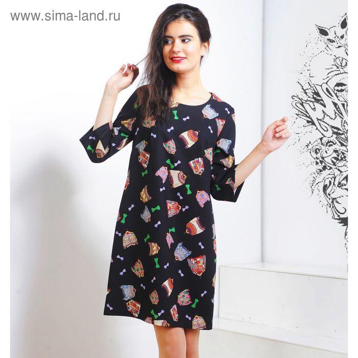 Платье 5119 С+, размер 52, рост 164 см, цвет черный