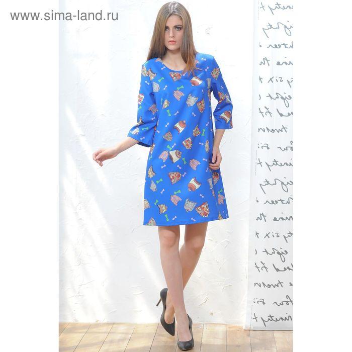 Платье 5119в С+, размер 52, рост 164 см, цвет синий