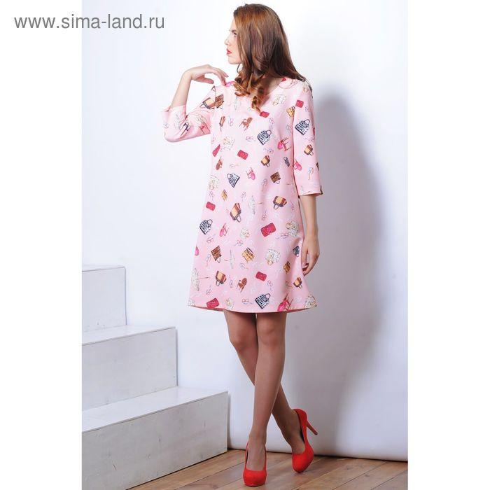 Платье 5126 С+, размер 52, рост 164 см, цвет розовый
