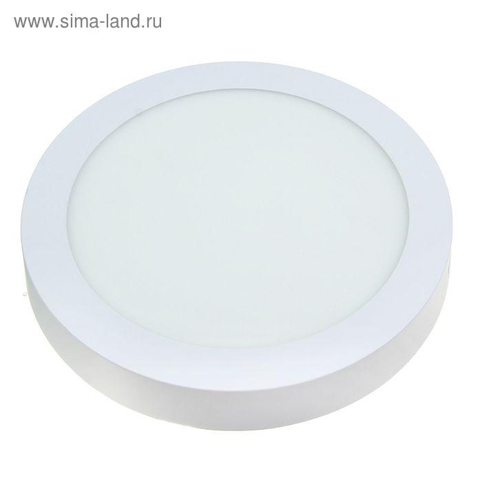 Панель круглая накладная D 225 мм, 18 W, LED-90-2835-1260Lm-4000К-120deg-160-260V
