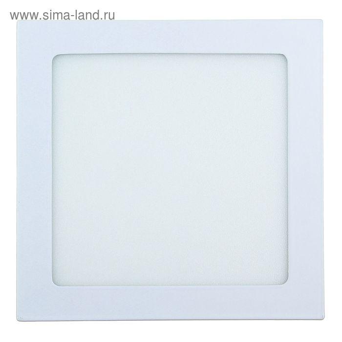 Панель квадратная встраиваемая 190х190 мм, 15 W, LED-75-2835-1050Lm-6500К-120deg-160-260V