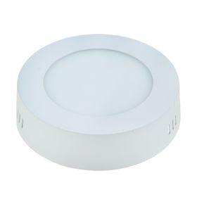 Панель круглая накладная D 120 мм, 6 W, LED-30-2835-420Lm-4000К-120deg-160-260V