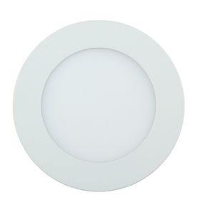 Панель круглая встраиваемая D 120 мм, 6 W, LED-30-2835-420Lm-6500К-120deg-160-260V