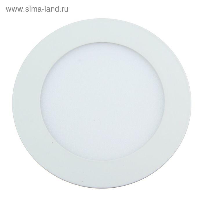 Панель круглая встраиваемая D 145 мм, 9 W, LED-45-2835-630Lm-6500К-120deg-160-260V