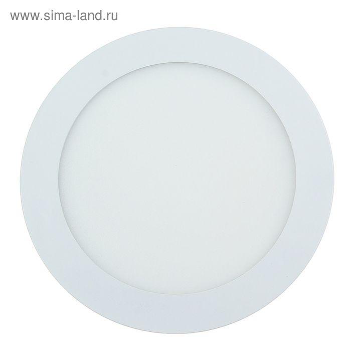 Панель круглая встраиваемая D 170 мм, 12 W, LED-60-2835-840Lm-4000К-120deg-160-260V