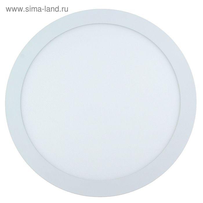Панель круглая встраиваемая D 300 мм, 24 W, LED-125-2835-1750Lm-6500К-120deg-160-260V