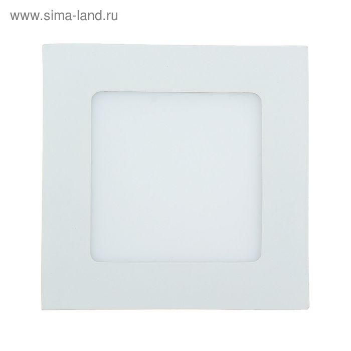 Панель квадратная встраиваемая 120х120 мм, 6 W, LED-30-2835-420Lm-6500К-120deg-160-260V