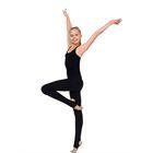 Леггинсы для гимнастики с пяткой, размер 28, цвет чёрный