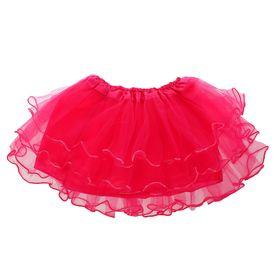 Карнавальная юбка 4-х слойная 4-6 лет, цвет розовый