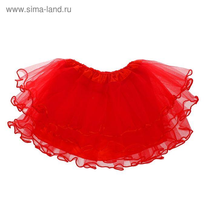 Карнавальная юбка 4-х слойная 4-6 лет, цвет красный