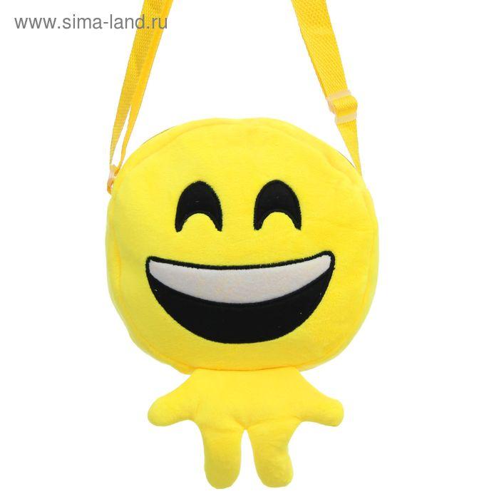 """Мягкая сумочка """"Смайлик"""" смеётся"""
