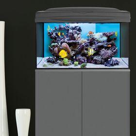 Морской аквариум REFF MASTER LED.(Aquael) 80л. черный, Marine 2x6w + Actinic 2x6w