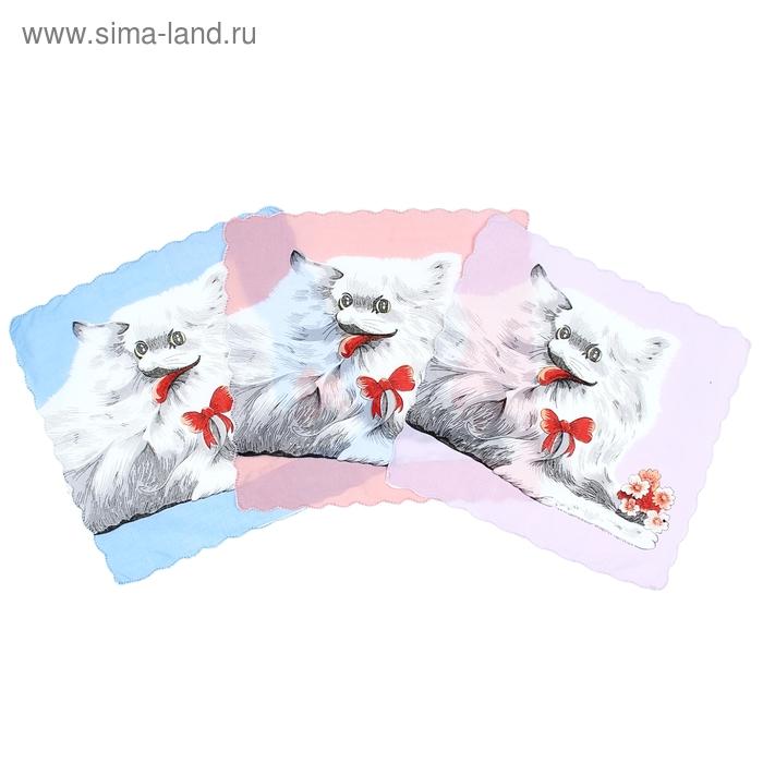 Платки носовые детские Красотка 30*30 см, 12 шт, цвета МИКС,100% хлопок