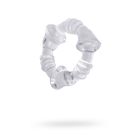 Эрекционное кольцо Mini Flex Stretchy Cockring, 2 см, прозрачное Ош