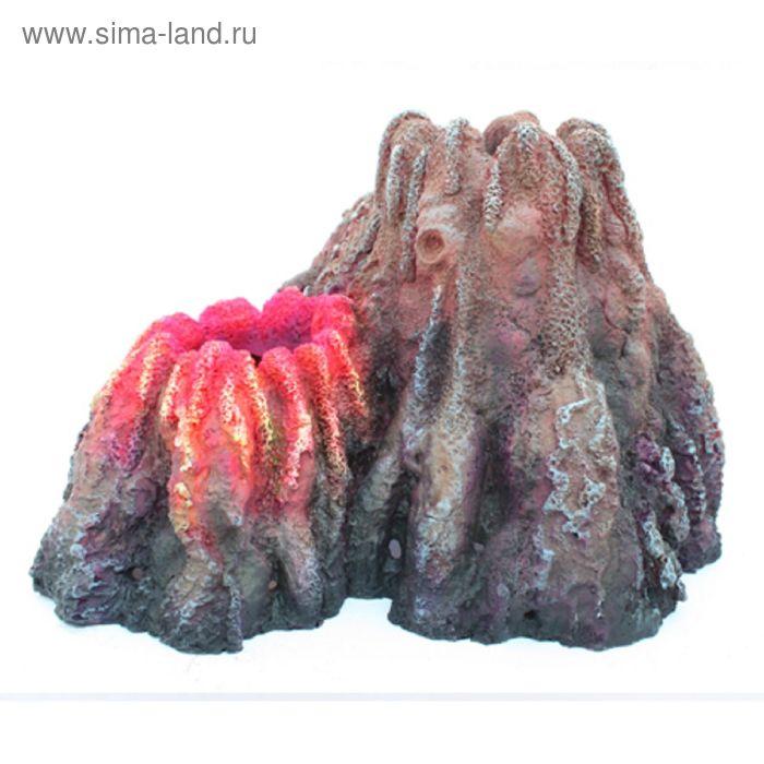 Грот-вулкан Resin Volcano 5151B (AquaEl) для AirLight (26x23x17 см.) красный (202096)