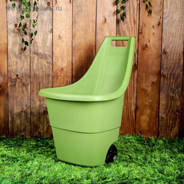 Тележка садовая, двухколёсная, 50 л, пластик, Keter, цвет МИКС