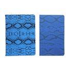 Ежедневник недатированный формат А6, 80 листов, линия, Рептилия синий