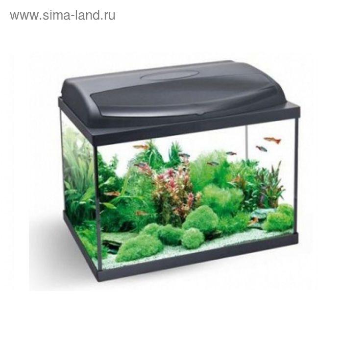 Аквариум Aqua4home 50 (AQUAEL) 45 литров,50х30х30, прямоуг. черный, c оборудованием