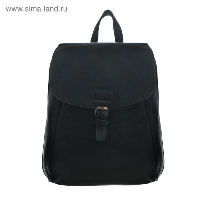Рюкзак молод, 55384 Стиль, 30*10*33см, 1 отд, 1 нар карман, 2 бок кармана, черный