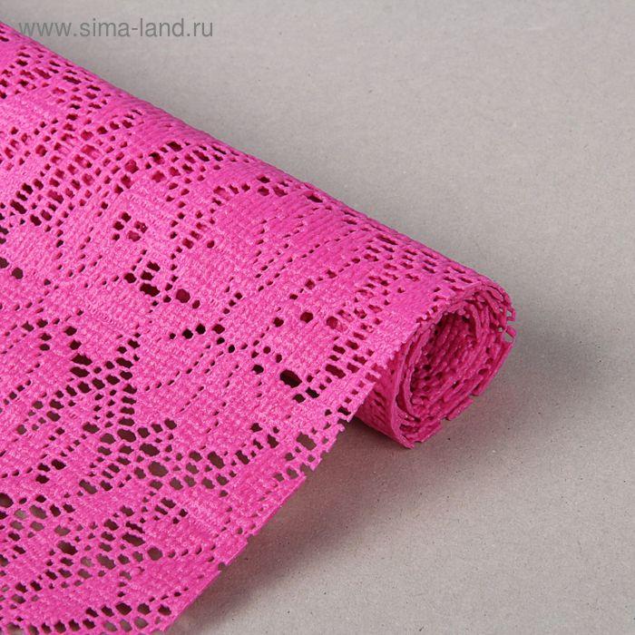 """Коврик противоскользящий 45х100 см """"Цветы"""", цвет розовый"""