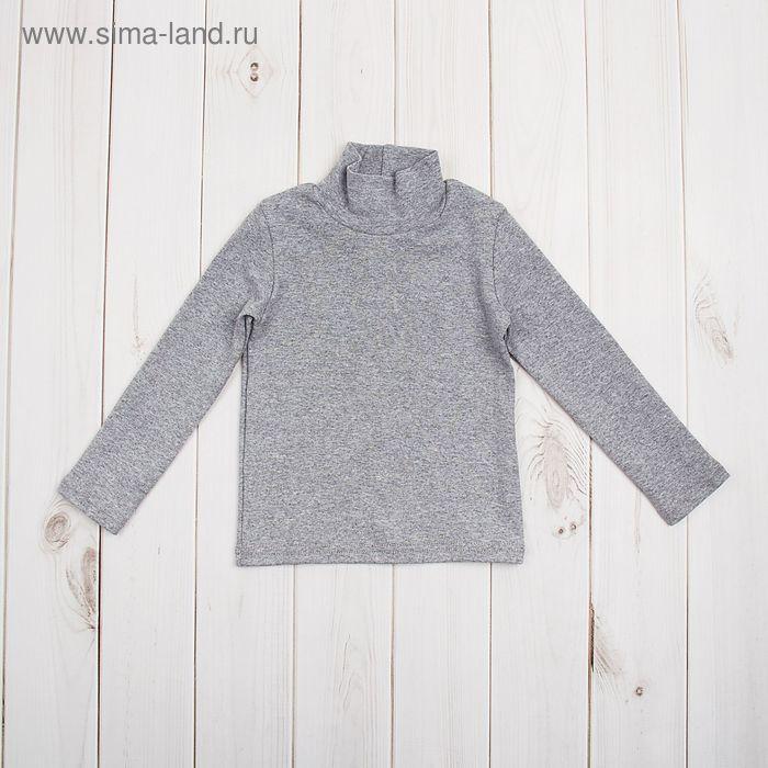 Водолазка для мальчика, рост 98 (28) см, цвет серый меланж (арт. Р-005/2_Д)