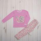 Пижама для девочки, рост 110 (30) см, цвет розовый (арт. К-004_Д)