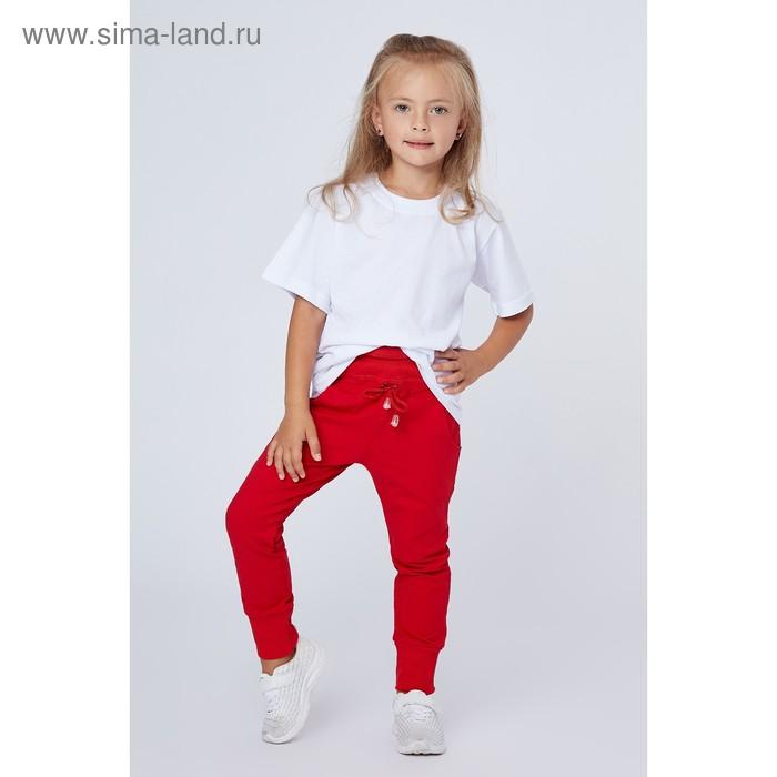 Брюки для девочки, рост 104 (28) см, цвет красный (арт. П-001_Д)