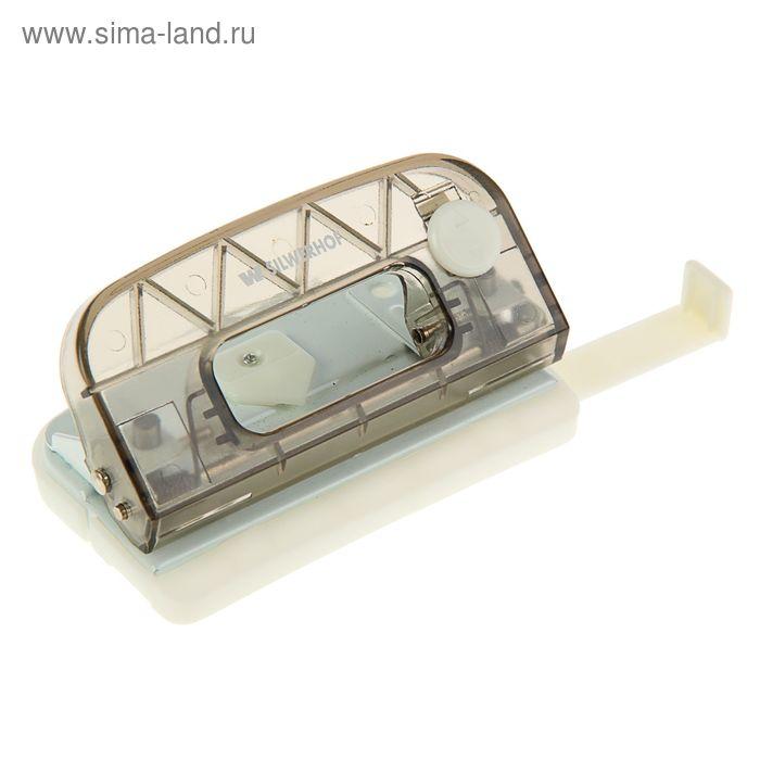 Дырокол пластиковый 10л BASIC, форматная линейка, фиксатор закр.полож., черный 391025-01