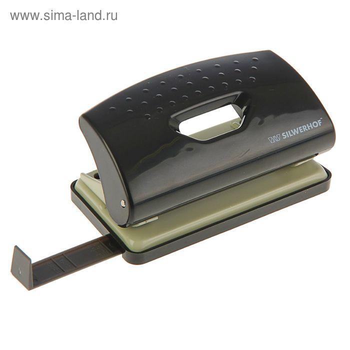Дырокол пластиковый 10л PRIMER, форматная линейка, черный 391033-01