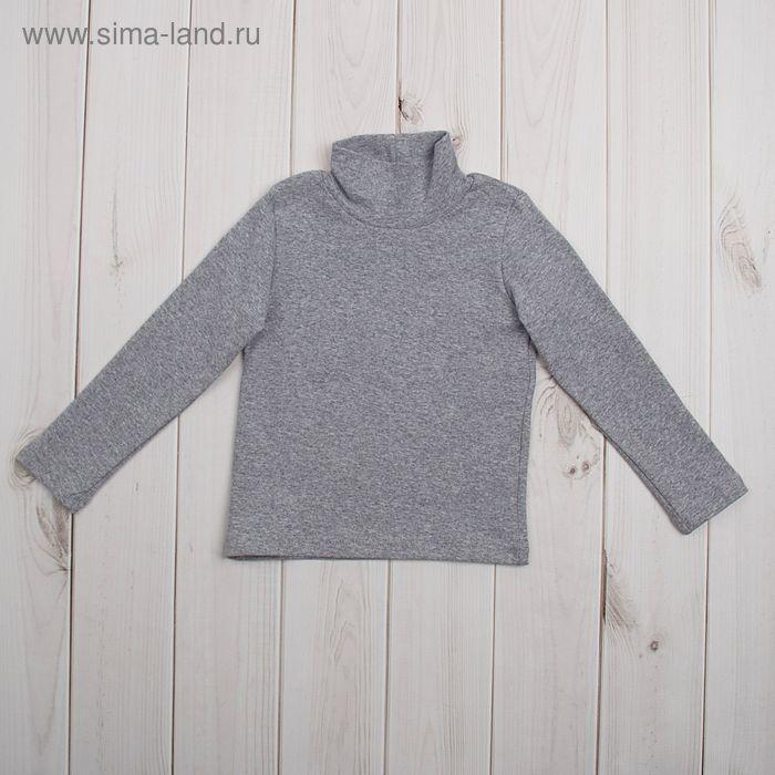 Водолазка для мальчика, рост 92 (26) см, цвет серый меланж (арт. Р-005/2_М)