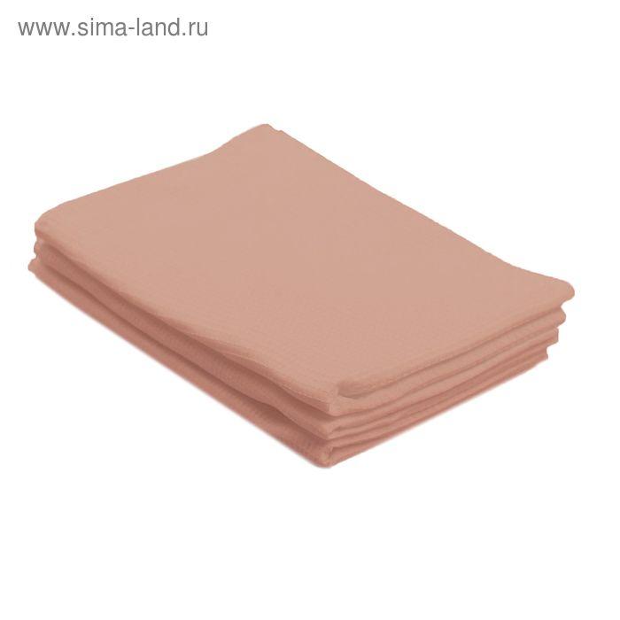 Полотенце вафельное однотонное цв кремовый 40х70 см 160 гр/м хлопок