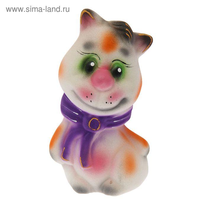 "Копилка ""Кот веселун"" флок, белая"